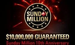 a.urli из Канады затащил юбилейный Sunday Million (+$970 000)